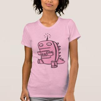 Robot Dino - Pink Tee Shirts