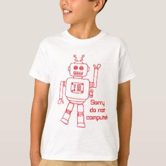 Robot do not compute! red fun kids t-shirt
