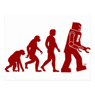Robot Evolution - from man into robots Postcard