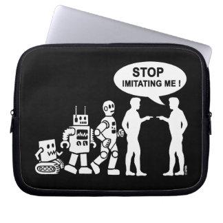 Robot evolution laptop sleeve