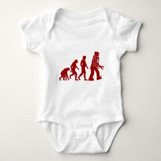 Robot Evolution of man into robot Baby Bodysuit