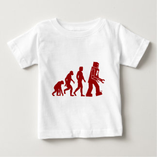 Robot Evolution of man into robot Baby T-Shirt