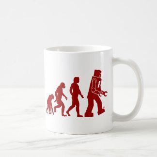 Robot Evolution of man into robot Coffee Mug