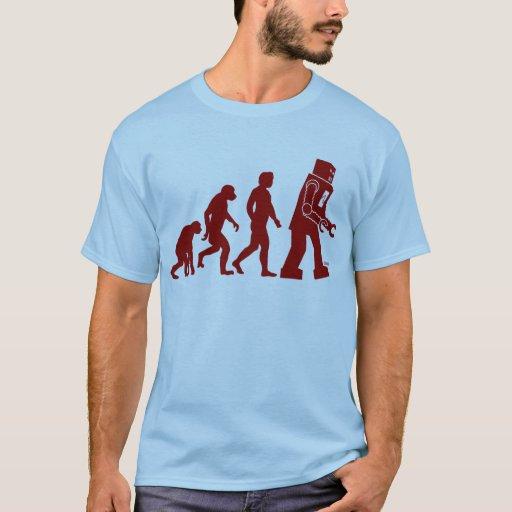Robot Evolution of man into robot T-Shirt
