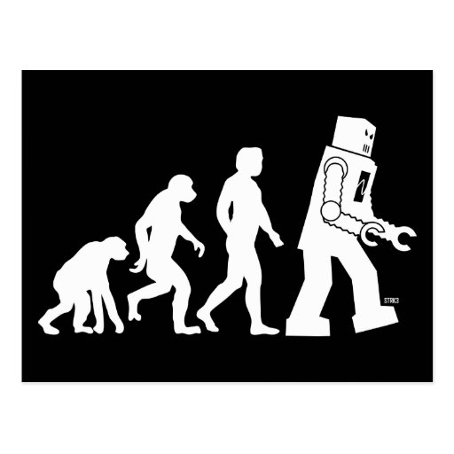 Robot Evolution Postcard