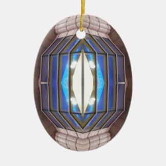 Robot Eye 2 - CricketDiane SciFi Art Products Ceramic Oval Decoration