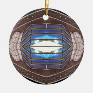 Robot Eye - CricketDiane SciFi Art Products Round Ceramic Decoration