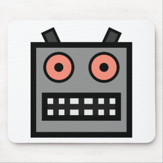 ROBOT FACE MOUSE PADS