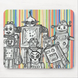 Robot Family 6 mouse pad