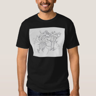 Robot Fight black and white version T Shirt