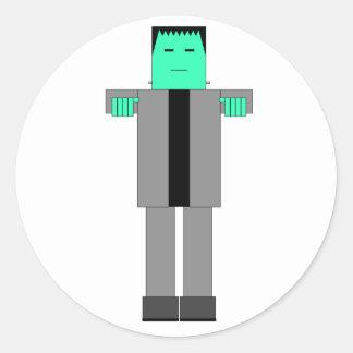 Robot Frankenstein Classic Round Sticker