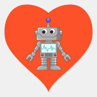 Robot Freak Heart Sticker