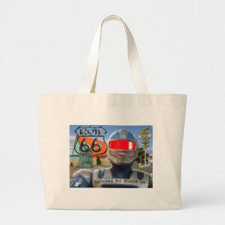 Robot Giganticus Route 66 Canvas Bag