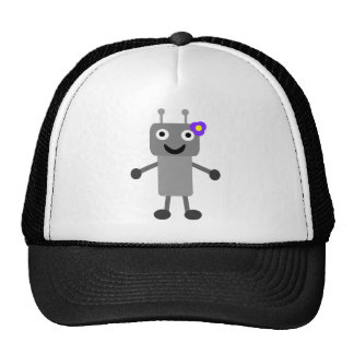 Robot girl cartoon hat