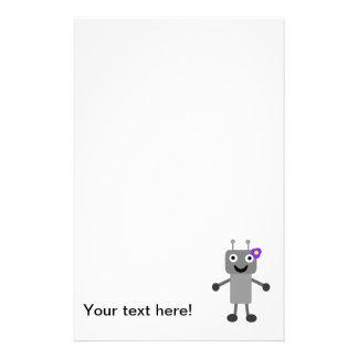 Robot girl cartoon stationery paper