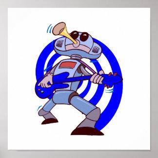 robot guitar player blue.png print