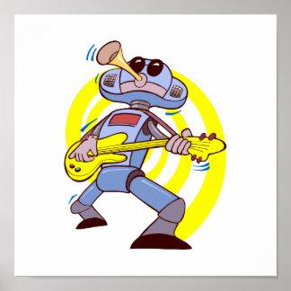 robot guitar player yellow.png print