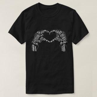 Robot hands make heart shape shirt