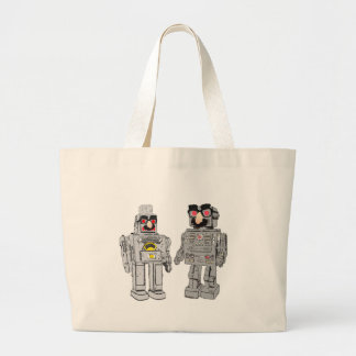 Robot in disguise large tote bag