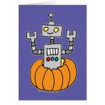 Robot in Pumpkin Card