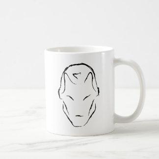 robot inspired design coffee mug