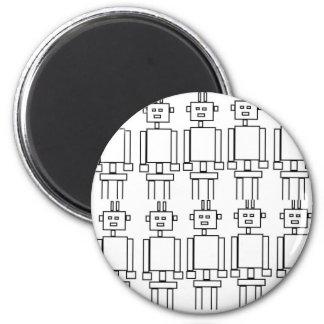Robot invasion 6 cm round magnet