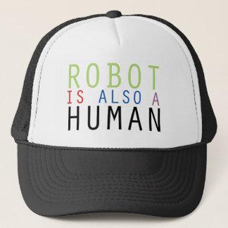 Robot Is Also A Human Merchandise Trucker Hat