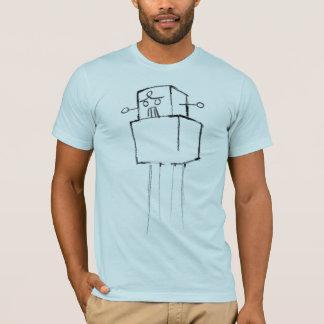 Robot light blue semi fitted mens tshirt