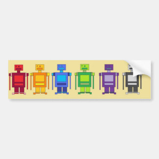 Robot Lineup Bumper Sticker