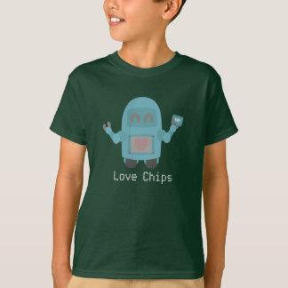 Robot Love Computer Chips Tee Shirt