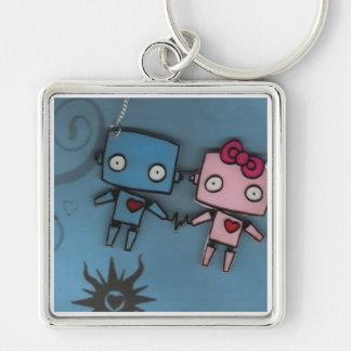 robot love key ring
