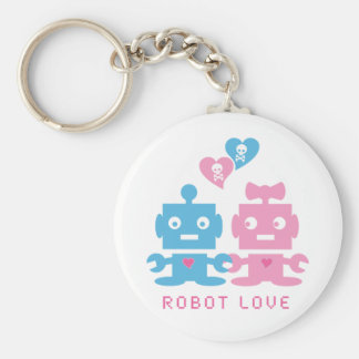 Robot Love Keychain