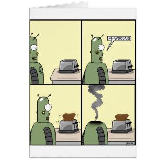 Robot Love Strip Greeting Card