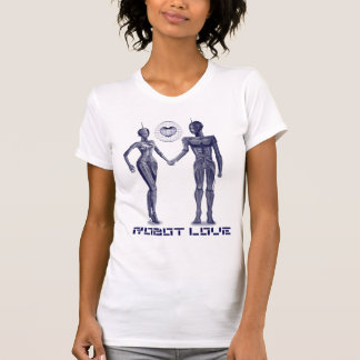 Robot Love Womens T Shirt