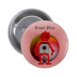 Robot Man 6 Cm Round Badge