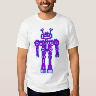Robot Mk I - (Purple & Lt Blue) - Customized T-shirt