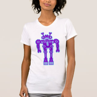 Robot Mk I - (Purple & Lt Blue) - Customized T-Shirt