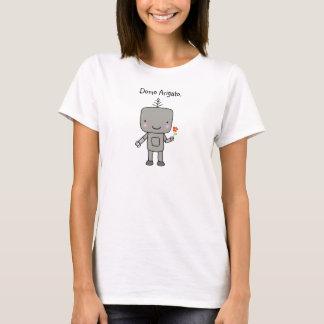 Robot Nerd T-shit Cute Robot Geek Domo Arigato T-Shirt
