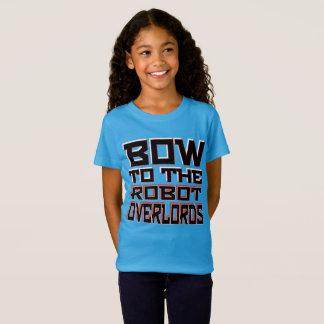 """""""Robot Overlords"""" Girls' Fine Jersey T-Shirt"""