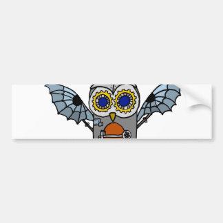 Robot Owl Bumper Sticker