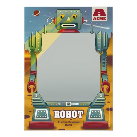 Robot Party Invitations