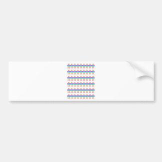 Robot pattern bumper sticker