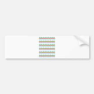Robot pattern- bumper stickers