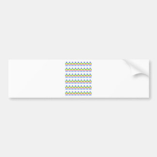 Robot patterns bumper stickers
