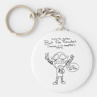 Robot Presidential Candidate Keychains