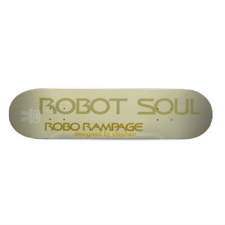 robot rampage 21.6 cm skateboard deck