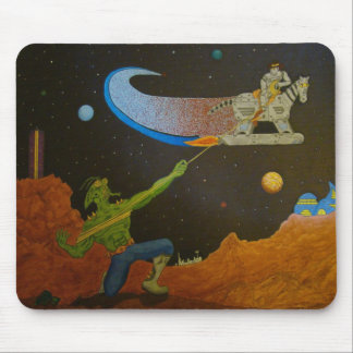 Robot Ranger Rusty McBolt vs. Outlaw BooGar Brane Mouse Pad