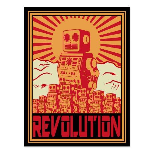 Robot Revolt Post Cards