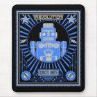 Robot Revolution Blue Mouse Mat