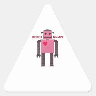 Robot Romance Triangle Sticker